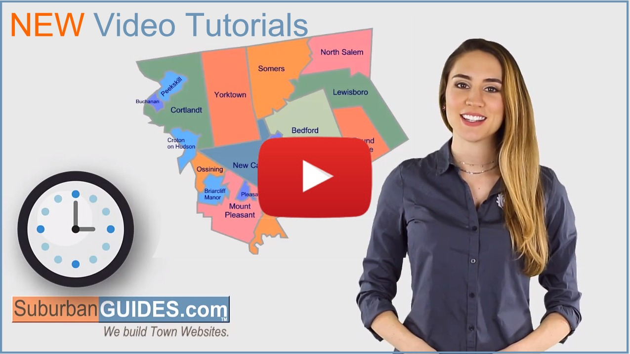 New Video Guides for SuburbanGuides.com Town Websites